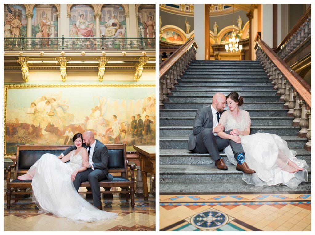 Des Moines Photographer | Des Moines wedding photographer | Iowa Sate Capitol | Kara Vorwald