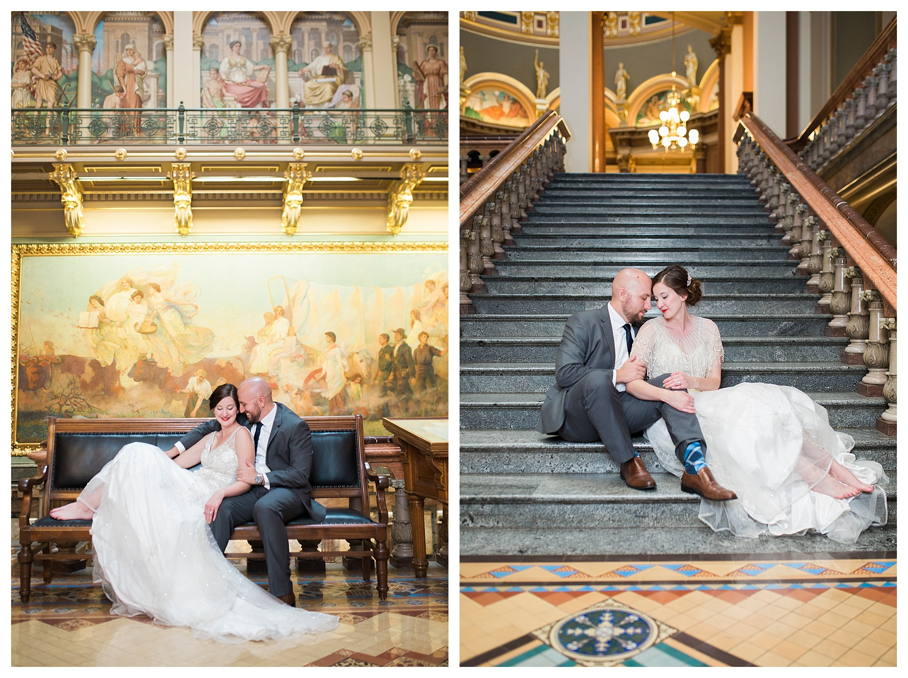 Des Moines Photographer | Des Moines wedding photographer | Iowa Sate Capitol | Kara Vorwald
